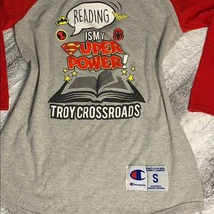 🔥💥Vintage Champion Reading is my Super Power Tee
